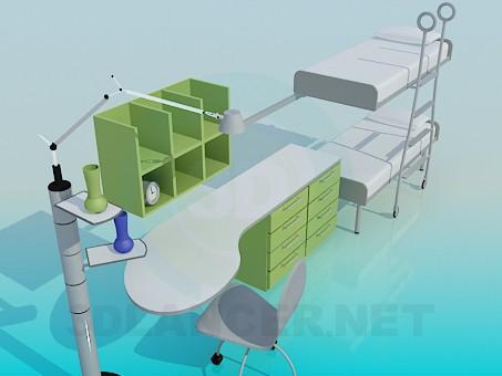 3d модель Меблі для дитячої спальні – превью