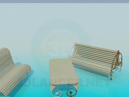 3d моделирование Уличные скамейки модель скачать бесплатно