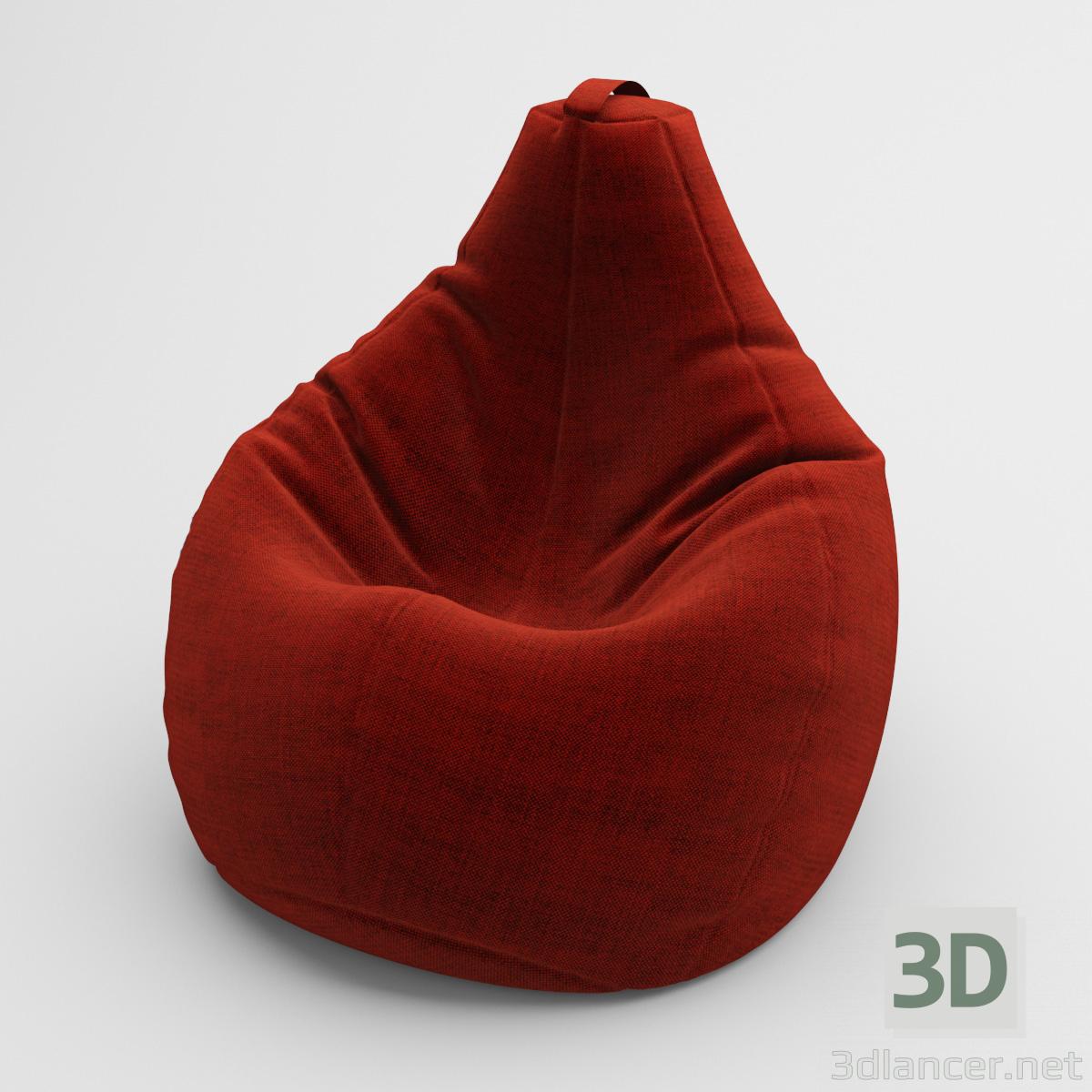3 डी मॉडल एक कुर्सी एक नाशपाती - पूर्वावलोकन
