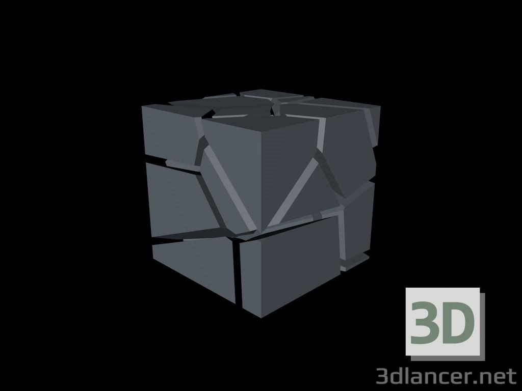 3 डी मॉडल शटर क्यूब - पूर्वावलोकन