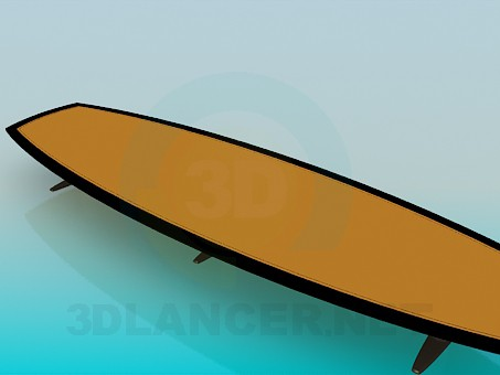 3d modeling A long low table model free download