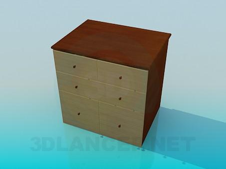 3d model Deep chest - preview
