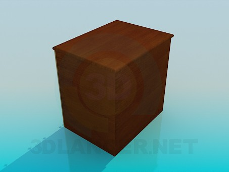 3d model Deep chest - preview