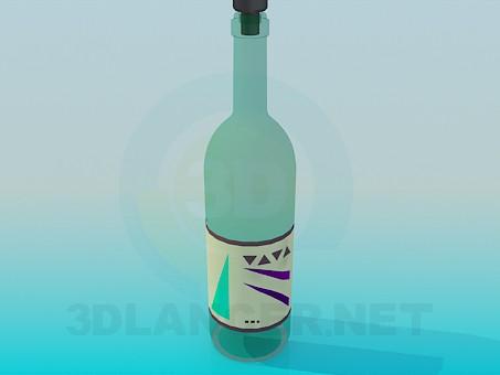 modelo 3D Botella - escuchar