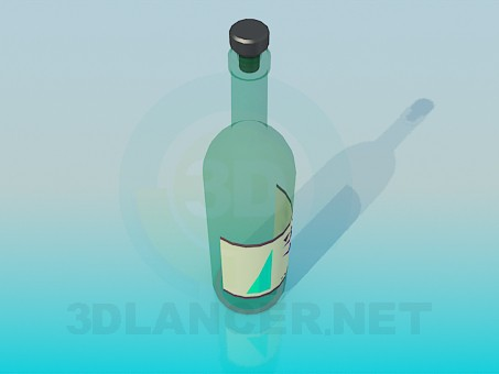 3d model Bottle - preview