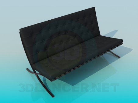 3d model Convertible sofa - preview