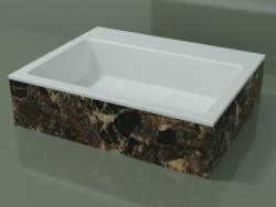 Vasque à poser (01R131302, Emperador M06, L 60, P 48, H 16 cm)