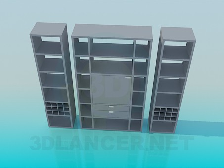 3d modeling Closet with individual parts model free download