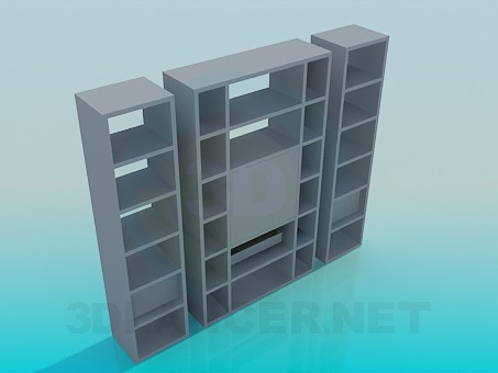 3d model Closet with individual parts - preview