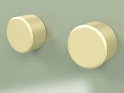 Wall-mounted set of 2 mixing shut-off valves (16 63 V, OC)