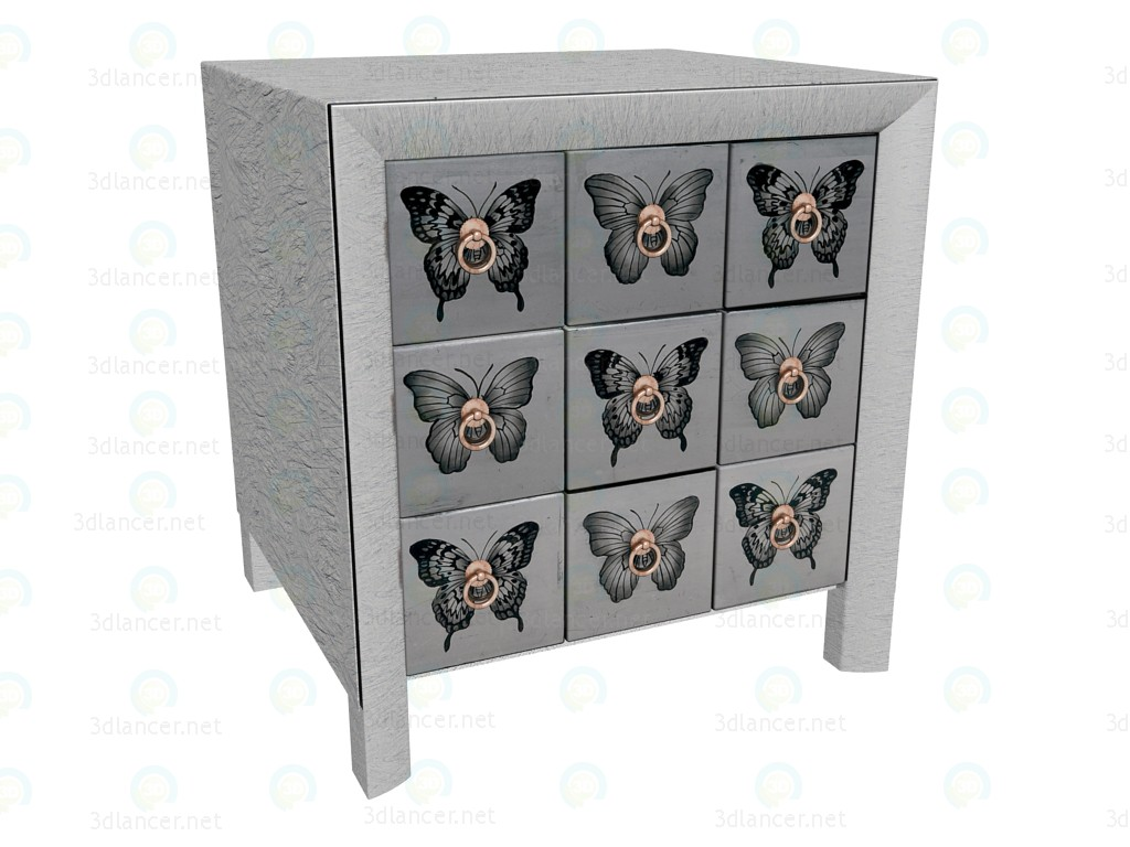 3d model Commode Butterfly - preview