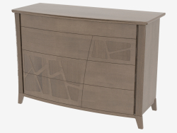 Chest of 4 drawers with curved legs COMONC