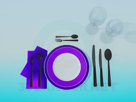 3d modeling Cutlery model free download