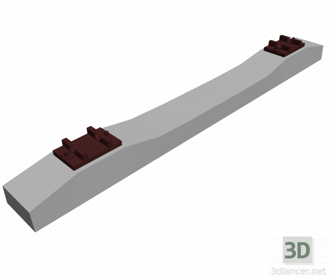 3d model Reinforced concrete sleepers - preview