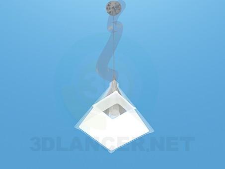 3d модель Светильник подвес в форме пирамиды – превью