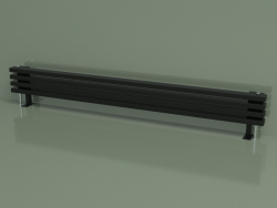 Горизонтальный радиатор RETTA (4 секц 1800 мм 60х30, черный глянцевый)
