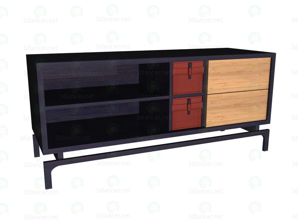 3d модель Тумба ТВ – превью