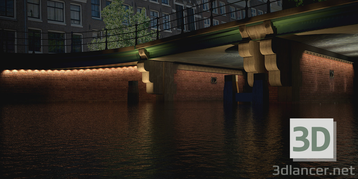 modèle 3D Bridge 5 Amsterdam - preview