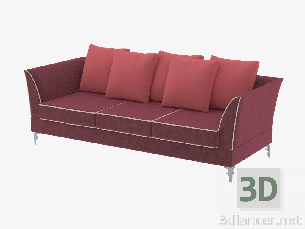 3d model divan modern straight three seater albion 238 for Divan 6 letters