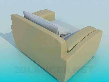 3d модель Большое кресло – превью