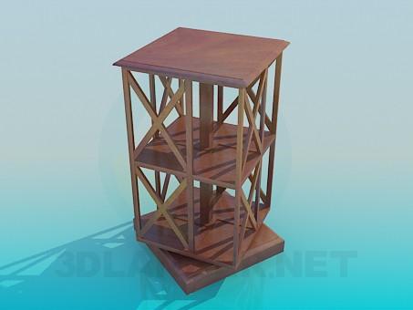 3d model Librería - vista previa