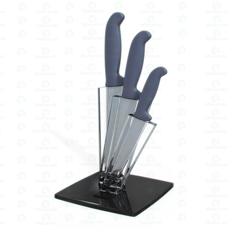 3d modeling Kitchen knives model free download
