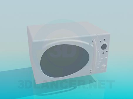 3d model White microwave oven - preview