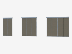 Interroom partition of A1 (silver black glossy)