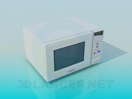 3d modeling Microwave oven model free download