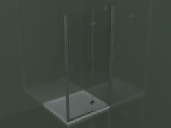 Cabina doccia SN per piatti doccia incasso fino a 129 cm