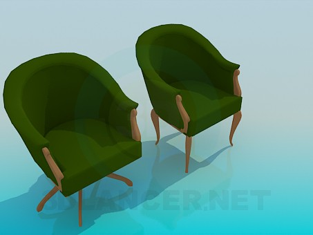 3d modeling Armchair and chair set model free download