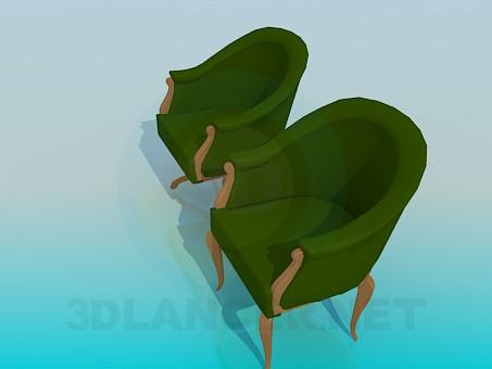 3d модель Крісло і стілець в наборі – превью