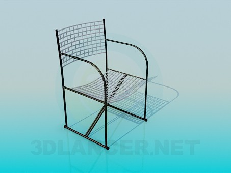 3d model Chair in grid - preview