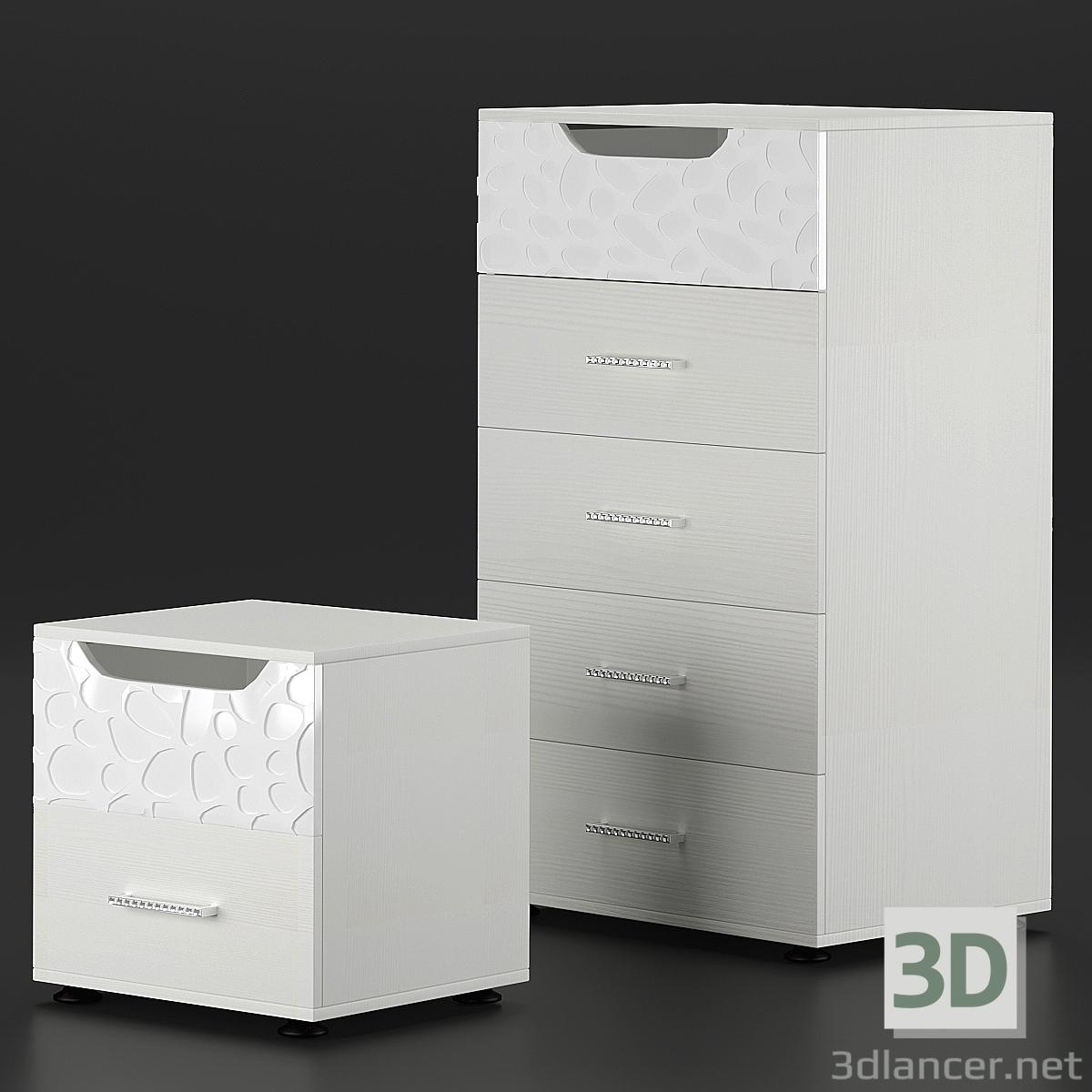 3d Wyspaa.Hoff. Dresser and bedside table model buy - render