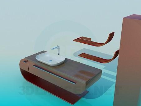 modelo 3D Muebles de baño - escuchar