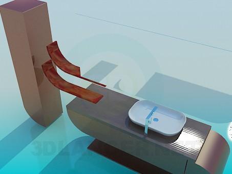 3d model Bathroom furniture - preview