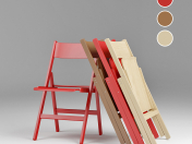 Scandinavian style folding chair