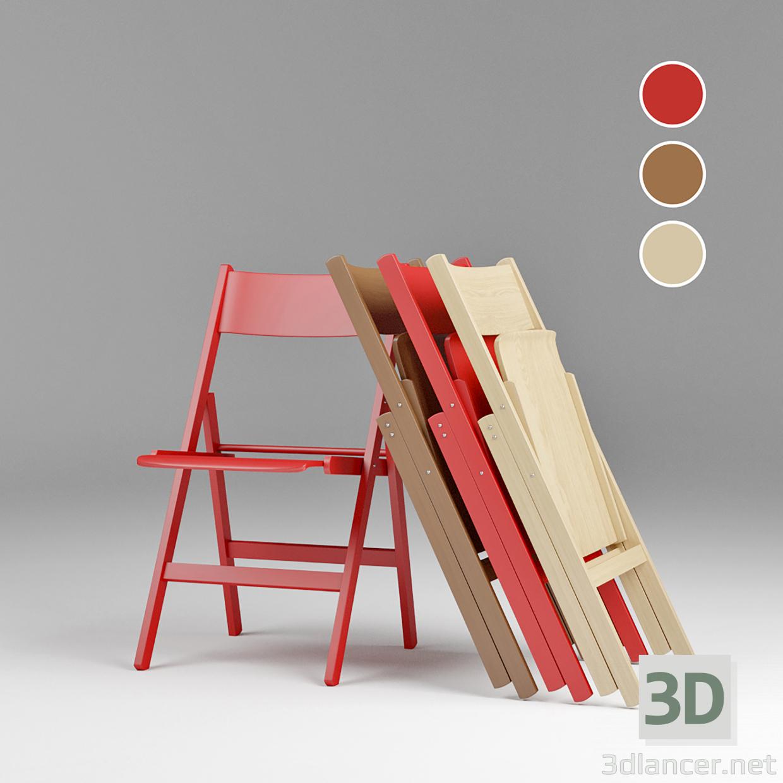 3d Scandinavian style folding chair model buy - render