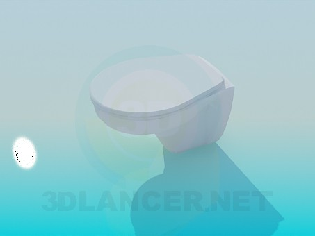 3d modeling Toilet bowl with a lid model free download