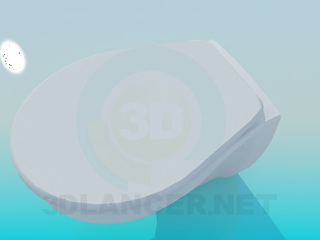 modelo 3D Inodoro con tapa - escuchar