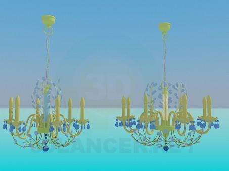 3d моделирование Люстры с канделябрами модель скачать бесплатно