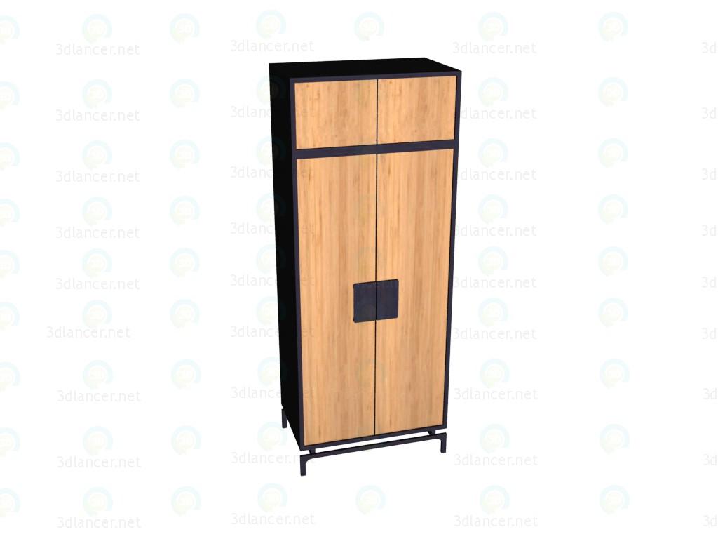 3d модель Шкаф 2-дверный с надставкой VOX – превью