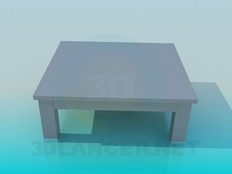 3d модель Деревянный журнальный столик – превью