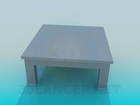 modelo 3D Mesa de centro madera - escuchar