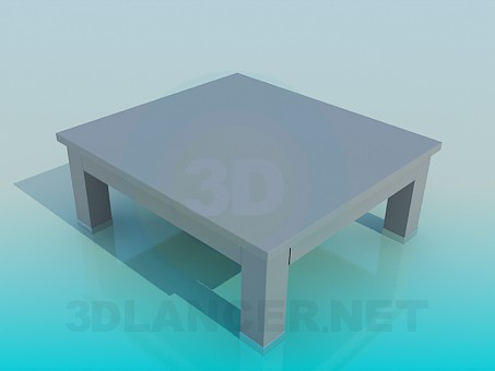 3d model Wooden coffee table - preview