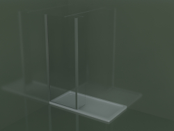Fixed panel SK + SZ for built-in or corner shower tray