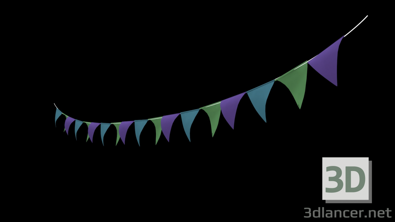 3d Animated 3D Banner model buy - render