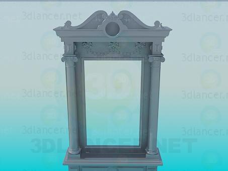 3d моделирование Старинное зеркало модель скачать бесплатно
