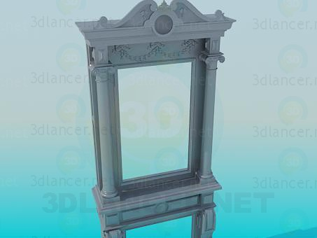 3d model Antique mirror - preview