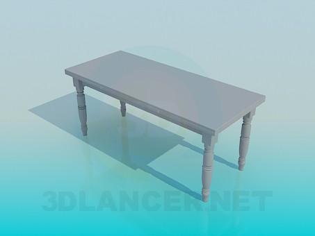 3d моделирование Стол с резьбленными ножками модель скачать бесплатно
